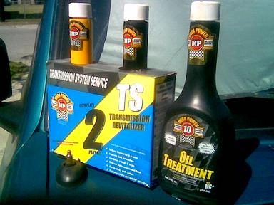 Transmission Treatment from Mega Power ends transmission problems using 3 items in 2 easy to do steps.